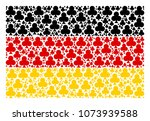 german state flag concept made... | Shutterstock .eps vector #1073939588