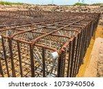steel rebars for reinforced... | Shutterstock . vector #1073940506