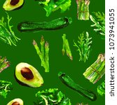 vegan seamless pattern.  ... | Shutterstock . vector #1073941055
