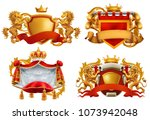 royal coat of arms. king and... | Shutterstock .eps vector #1073942048