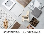 samples of material  wood   on...   Shutterstock . vector #1073953616