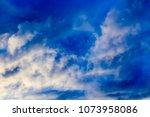 white  grey heavy fluffy ... | Shutterstock . vector #1073958086