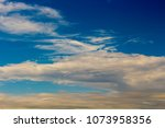 white  and grey cirrostratus... | Shutterstock . vector #1073958356