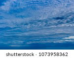 white  and grey cirrostratus... | Shutterstock . vector #1073958362