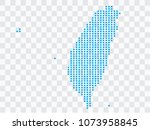 abstract blue map taiwan of... | Shutterstock .eps vector #1073958845