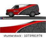 van graphics.abstract curved... | Shutterstock .eps vector #1073981978