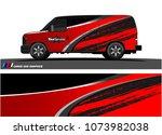 van graphics.abstract curved... | Shutterstock .eps vector #1073982038