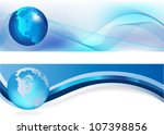 Headers Width Abstract Blue...