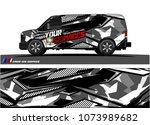 cargo van graphic vector....   Shutterstock .eps vector #1073989682