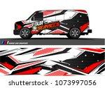 cargo van graphic vector.... | Shutterstock .eps vector #1073997056