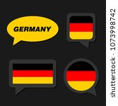 set of germany flag in dialogue ... | Shutterstock .eps vector #1073998742