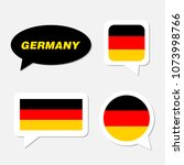 set of germany flag in dialogue ... | Shutterstock .eps vector #1073998766