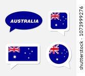 set of australia flag in... | Shutterstock .eps vector #1073999276