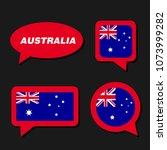 set of australia flag in... | Shutterstock .eps vector #1073999282