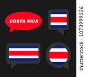 set of costa rica flag in... | Shutterstock .eps vector #1073999336