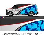 cargo van graphic vector.... | Shutterstock .eps vector #1074002558