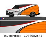 cargo van graphic vector.... | Shutterstock .eps vector #1074002648