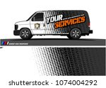 cargo van graphic vector.... | Shutterstock .eps vector #1074004292