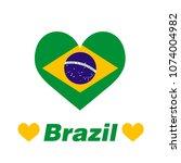 the heart of brazil   | Shutterstock .eps vector #1074004982