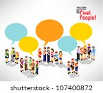 a large group of people gather... | Shutterstock .eps vector #107400872