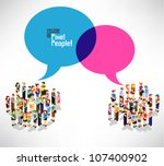 a large group of pixel people... | Shutterstock .eps vector #107400902