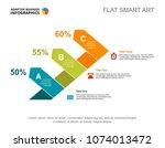 three arrows percentage chart... | Shutterstock .eps vector #1074013472