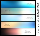 beautiful colorful blurred... | Shutterstock .eps vector #1074019382