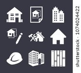 buildings filled vector icon... | Shutterstock .eps vector #1074024422