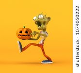 fun zombie   3d illustration | Shutterstock . vector #1074050222