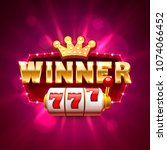 winner frame casino slots... | Shutterstock .eps vector #1074066452