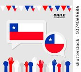 national celebration with chile ... | Shutterstock .eps vector #1074069686