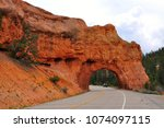 rock tunnel  red canyon of... | Shutterstock . vector #1074097115