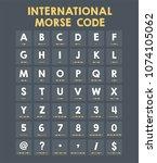 icon international morse code.... | Shutterstock .eps vector #1074105062