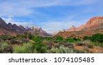 zions national park  utah  usa   Shutterstock . vector #1074105485