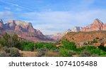 zions national park  utah  usa   Shutterstock . vector #1074105488