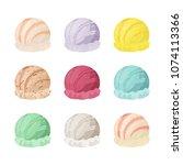 vector ice cream collection ...   Shutterstock .eps vector #1074113366