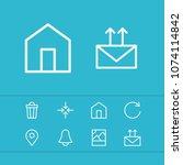 web icons set with minimize ...