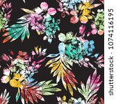 seamless digital floral pattern ... | Shutterstock . vector #1074116195