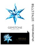 gem  jewel  precious  star  ... | Shutterstock .eps vector #1074117758
