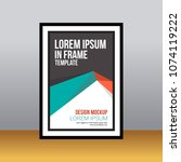 in frame desk poster abstract... | Shutterstock .eps vector #1074119222