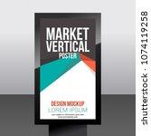 market vertical poster abstract ...   Shutterstock .eps vector #1074119258