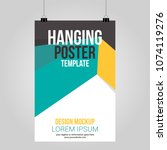 hanging poster clip abstract... | Shutterstock .eps vector #1074119276
