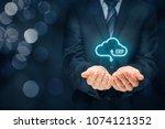 enterprise resource planning... | Shutterstock . vector #1074121352