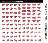norway flag  vector illustration | Shutterstock .eps vector #1074125552