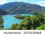 nature gem vacha dam in... | Shutterstock . vector #1074130868