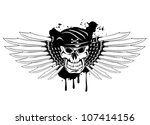 Vector illustration soldier skull in beret and daggers