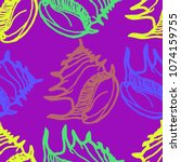 summer background seamless... | Shutterstock .eps vector #1074159755