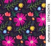contrast floral summer seamless ...   Shutterstock .eps vector #1074162476