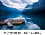 beautiful nature norway natural ...   Shutterstock . vector #1074163862