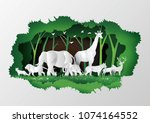 concept of world wildlife day... | Shutterstock .eps vector #1074164552